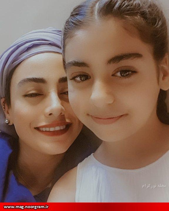 نازنین کیوانی و دخترش