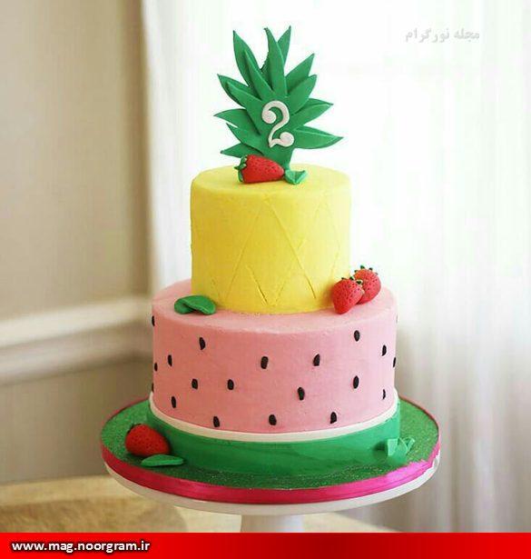 کیک با تزئین هندوانه