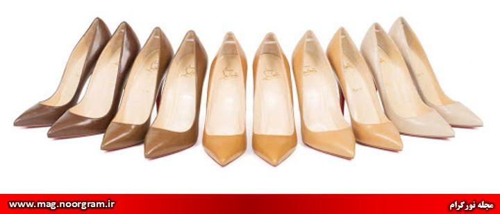کفش رنگ نود
