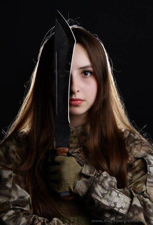 دختر ارتشی