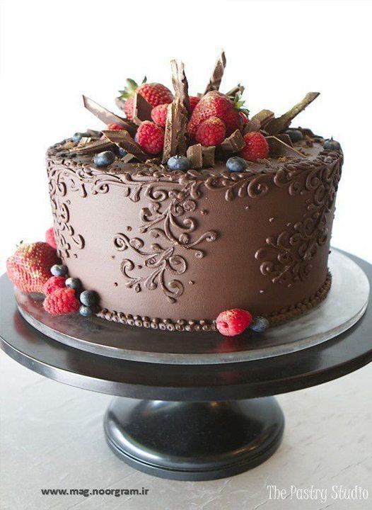 طرح کیک شکلاتی