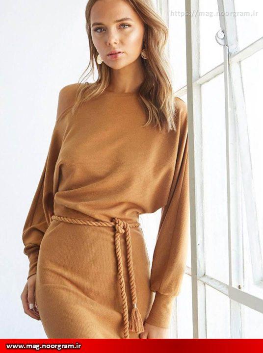 لباس زنانه شتری