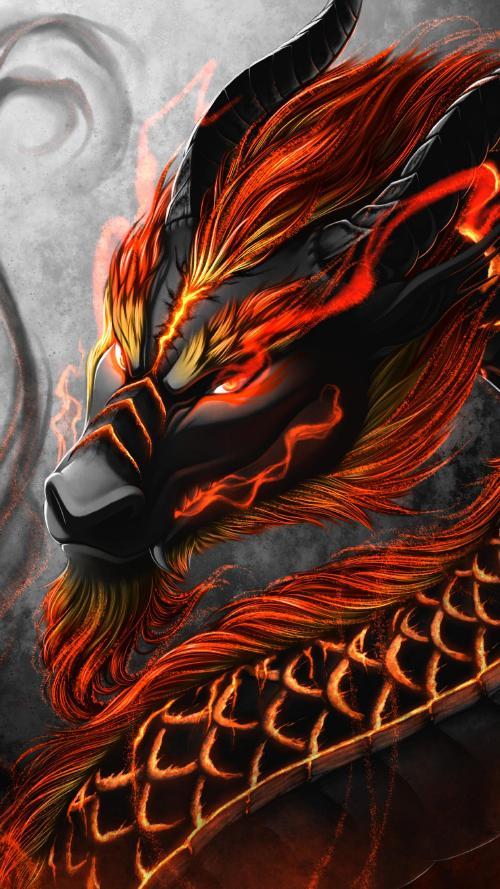 عکس پس زمینه اژدها