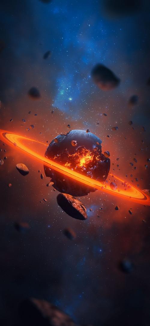 والپیپر سیاره زحل